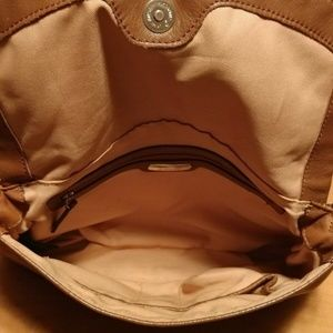 B. MAKOWSKY Bags - B. MAKOWSKY Brown Leather Shoulder Bag Purse